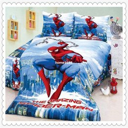 $enCountryForm.capitalKeyWord Canada - New Store Sale! 50% OFF Amazing Spiderman Bedding 4 Pieces Twin Single Duvet Quilt Cover Sheet Set for Boys Bedding