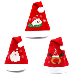 $enCountryForm.capitalKeyWord UK - EMS Christmas Hats Gifts Decorations For Adults And Kids Merry Christmas Party Gifts Three Patterns Santa Snowman Moose Christmas Hat