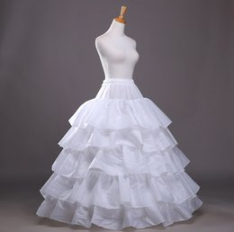 full hoop petticoat Canada - Shanghai Story 5 Hoop Ball Gown Bone Full Crinoline Petticoats For Wedding Dress Wedding Skirt Accessories In Stock