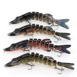 Discount trout bass fishing lures hard baits Fishing Lure 8 Segment Lifelike Swimbait Multi Jointed Artificial Bait Hard Bait Treble Hooks for Bass Perch Trout 15cm