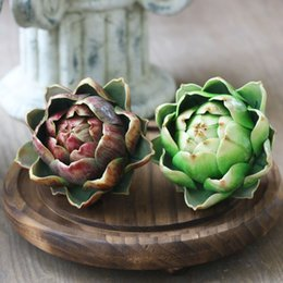 craft plastic flowers NZ - Artichoke Artificial Succulents Plastic Flower Home Decor Craft Wedding Christmas Decoration Diy Accessories