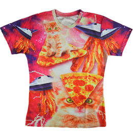 67ec1b0f1f55 Pizza Clothes Canada - Alisister funny 3d printed t shirts animal cat t  shirt men women s