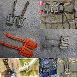 $enCountryForm.capitalKeyWord Australia - Wholesale-TL037 2Pcs SET Tactical Dominator Cord Hang Buckle Clip PALS MOLLE EDC Webbing Elastic Cord Cable Tidy Storage Roll Wire