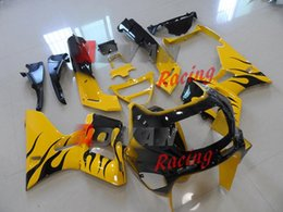 $enCountryForm.capitalKeyWord UK - Warm yellow and black flames painted custom injection mold cross-country fairing Kawasaki ZZR400 1995-2003 4