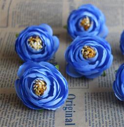 "white tea roses artificial 2019 - Silk Spring Camellia Flower Dia. 3.5cm 1.38"" Artificial Tea Rose Cmallias Roses for DIY Bridal Bouquet Wrist Flower"