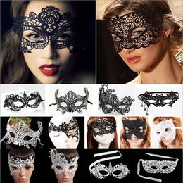 wholesale free shipping new fashion classic halloween costumes sexy lady womens lace floral face eye mask venetian masquera costumes - Classic Womens Halloween Costumes