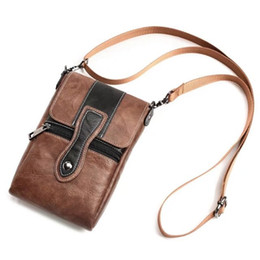 Mobile Pouches NZ - 6.3 inch Universal Waist Bags Fashion Men Casual Leather Shoulder Pocket PU Pouch Crossbody Bags Male Mobile Phone Bag