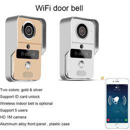 Free Shipping Wifi IP Video Door Phone With ID Card Unlocking