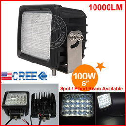 "Dhl Atv Canada - DHL 2PCS 6"" 100W 20LED*5W CREE LED Driving Work Light Square Offroad SUV ATV 4WD 4x4 Spot   Flood Beam 9-30V 10000lm POWER Heavy Duty Truck"
