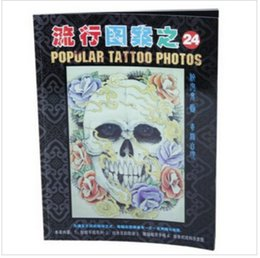 Dessins De Dessins Pas Cher-Wholesale-Gothic Punk Skull Squeleton Design Tattoo Flash Manuscript Sketch Book Supplies