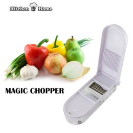 fruits dicer cutter Canada - Magic Chopper Kitchen Pro Slice Dicer Chop Vegetables Fruit Grater Cutter Measuring Cup Grid Fork K054 Tools