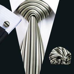 Brown Tie Hanky Sets NZ - Hot Selling Gold Brown Tie Set for Men Hankerchief Cufflinks Mens Jacquard Woven Classic Business Work Leisure Necktie Set N-0529