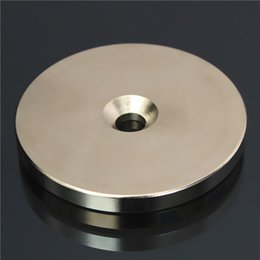 $enCountryForm.capitalKeyWord NZ - N52 50mmx5mm Countersunk Ring Magnet Disc Hole 6mm Rare Earth Neodymium Magnet