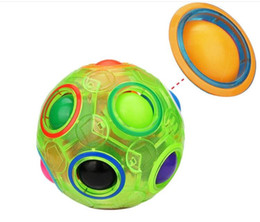$enCountryForm.capitalKeyWord Australia - Novelty Glow Rainbow Ball Magic Cube Toy Speed Football Creative Spherical Puzzles Educational Learning Toys Games for Children Christmas