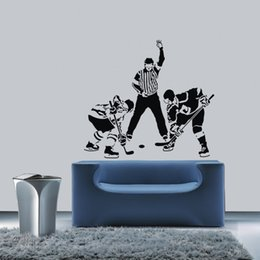 $enCountryForm.capitalKeyWord Canada - New Three Ice Hockey Ball Player Wall Stickers Sports Living Room Mural Sport Vinyl Art Decal Removable Wall Sticker Home Decor Decal