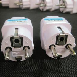 Venta al por mayor de 100 Unids / lote Universal 2 Pin Alimentación de CA Adaptador de Enchufe Eléctrico Convertidor de Viaje Cargador de Energía Reino Unido / EE. UU. / AU A UE Adaptador de Enchufe Socket