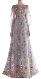 $enCountryForm.capitalKeyWord UK - Sexy Embroidery Sheer Floral Evening Dresses 2018 Illusion Flower Plus Size Guest Dress Long Party Dress Prom Gowns Celebrity Pageant