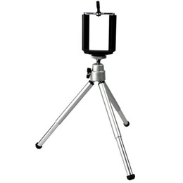 $enCountryForm.capitalKeyWord Canada - Only Tripod Mini Smart Phone Camera Tripod Stand Clip Bracket Holder Mount Adapter For Self-Timer Silver Aluminum PA-0113-SV
