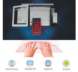 tablets qwerty NZ - New Qwerty mini portable Virtual laser keyboard with LED Screen mouse via bluetooth for android tablet pc smartphone computer