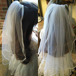 Girl veils online shopping - Cute New Arrival Cheap Girls Head Pieces Flower Girl Veil for Wedding Party Soft Tulle Kids Accessories Custom Made Wrist Length Satin Edge