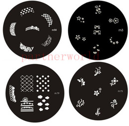 3d mold nails online shopping - 90 designs Round Stainless Steel m series Nail Art Stencils Stamping Template Printing Image Plate Palette d nail Mold free shopping
