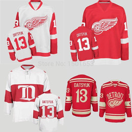c88750002c4 100% Stitched Polyester Men s Hockey Detroit Red Wings  13 Authentic Pavel  Datsyuk Jerseys 2014 Winter Classic Red White Black