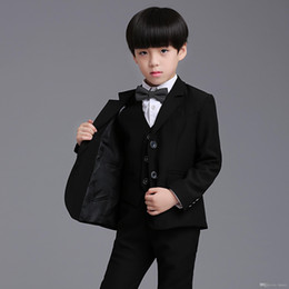 $enCountryForm.capitalKeyWord Canada - New Trendy 3pcs Suit and Waistcoat Children Boy Suit Dress School Piano Prom Clothes Boy's Formal Wear Accessories