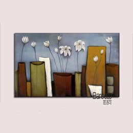 Flower vase oil painting canvas suppliers best flower vase oil chinese white flowers in the vase 100 hand painted still life oil painting modern home mightylinksfo