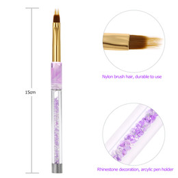 Barato Escova De Unha Acrílica 3d-1pc Nail Art UV Gel Pintura Pen Brush Nail Art Gradient Color Brush Acrílico UV Gel Polish 3D Dicas Efeito Design Ferramentas
