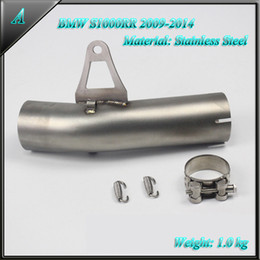 Motorcycle Pipes Australia - Stainless Steel mid pipe of Motorcycle exhaust pipe For bmw s1000rr 2009 2010 2011 2012 2013 2014