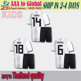 c8c12f8f68f 2018 World Cup Argentina kids soccer Jersey KIT 17 18 MESSI home DI MARIA  AGUERO thai quality Argentina football shirts