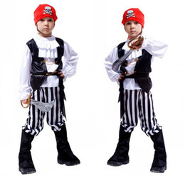 $enCountryForm.capitalKeyWord UK - Caribbean Pirates Cosplay Costume Classic Halloween Costumes Boys Pirate Costume Jack Sparrow Carnival Costume For Kids