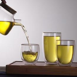$enCountryForm.capitalKeyWord Australia - New Arrival 250ml 350ml 450ml Double Layer Wall Clear Glass Tea Cup + Bamboo Lid Set Glass Coffee Tea Milk Insulation Mug