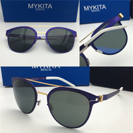 c07eff140c 2018 new mykita sunglasses ultralight frame without screws DASH goggles frame  flap top men brand designer retro coating mirror lens