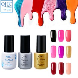 Pulimento De La Base Del Color Baratos-Al por mayor-QHCFiMeet UV Gel esmalte de uñas Magnífico Color de uñas Gel Polish Vernis Semi permanente Top Coat Base Coat Gel Lak Barnices Gelpolish