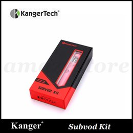 Discount kangertech subvod starter kit - Authentic Kangertech SUBVOD Starter Kit with Kanger 1300mAh SUBVOD Battery 3.2ml SSOCC Toptank Nano Atomizer Gif Box