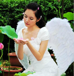 $enCountryForm.capitalKeyWord NZ - New White Angel Feather Wings For Halloween Princess Party Decoration Accessories Children and Adults Performing Props (Many Size to Choose