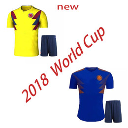 acca8b00b ... size 40 0ec5d 1f1fa Top quality 2018 World Cup Colombia national team Soccer  Jerseys Sets Rodriguez ...