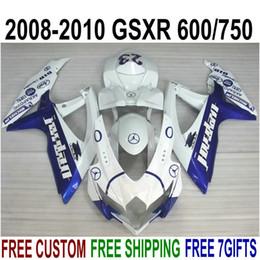 $enCountryForm.capitalKeyWord Australia - ABS fairing kit for SUZUKI GSX-R750 GSX-R600 2008 2009 2010 K8 K9 blue white fairings set GSXR 600 750 08-10 TA29