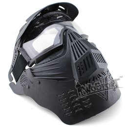 TacTical painTball equipmenT online shopping - Outdoor Wargame Mask Tactical Full Face Airsoft Paintball CS Equipment Halloween Cosplay Horror Gost Hunting Mask