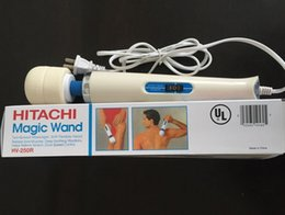 Wholesale Hitachi Magic Wand Massager AV Vibrator Massager Personal Full Body Massager HV R V Electric Massager Sexy Product best price