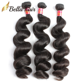 virgin remy brazilian human hair extensions Canada - Brazilian Hair Virgin Remy Human Hair Extensions Wefts 3pcs lot Natural Color Loose Wave Whole In Bulk Drop Shipping Natural Color