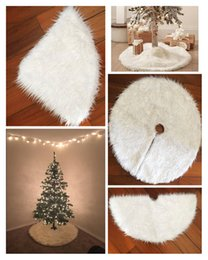 Barato Saias De Pele De Festa-Mais novo Enfeite de árvore de Natal Saias Cheap White Fur Vintage Non-woven Apron Festive Party Christmas Decorations Supplies RED
