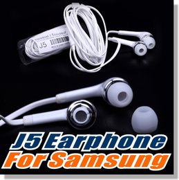 Headset oem online shopping - For Samsung S6 earphone OEM mm Tangle Free Stereo Headset with Microphone and Volume Key For iPhone Non Retail Packaging White