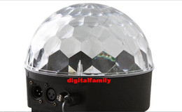 magic ball disco NZ - LED Channel DMX512 Control Digital LED RGB Crystal Magic Ball Effect Light DMX Disco DJ Stage party Lighting Free Shipping