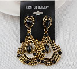 Discount steel earring studs - Fashion women big earrings vintage dangle chandelier pendants earring stud charm jewelry colorful