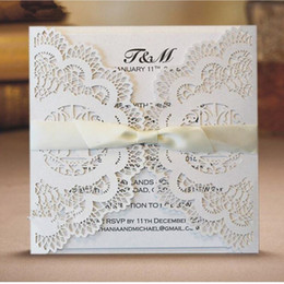Wholesale 50pcs Delicate Carved Cage Birds Romantic Wedding Party Invitation Card For Business Birthday Decoration Supplies Cheap Bird Cages
