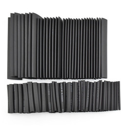 China Black 150pcs 8 Sizes Assortment Heat Shrinkable Tube Shrink Tubing 1.0-13.0mm Sleeving Wrap Wire Cable Kit cheap wire wrap cable suppliers