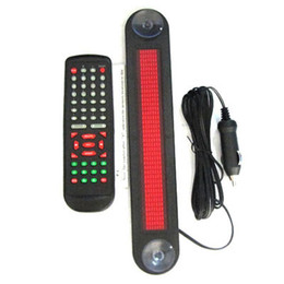 China Wholesale-Wholesales High Quality Car 12V LED Message Sign Programmable Moving Scrolling Board with Remote Control Red Color cheap car boards suppliers