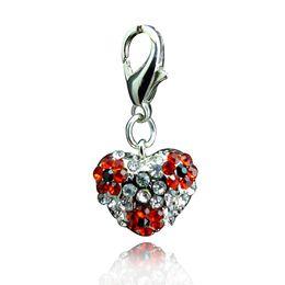 $enCountryForm.capitalKeyWord Canada - Fashion Floating Charms Inlaid Rhinestones Heart Shaped Car Keychain Locket Charms Free Shipping